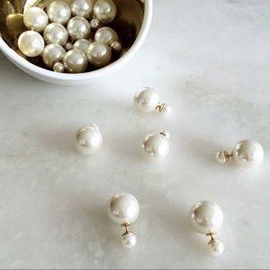 Jewelry - Double sided pearl earrings